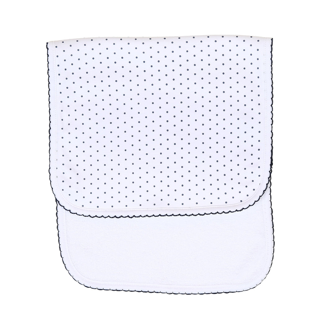 Mini Dot Essentials Navy Burp Cloth
