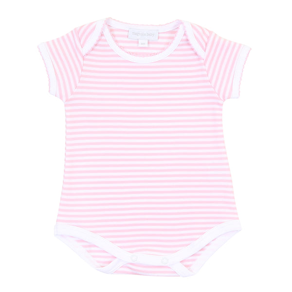 Essentials Pink Stripes S/S Bodysuit