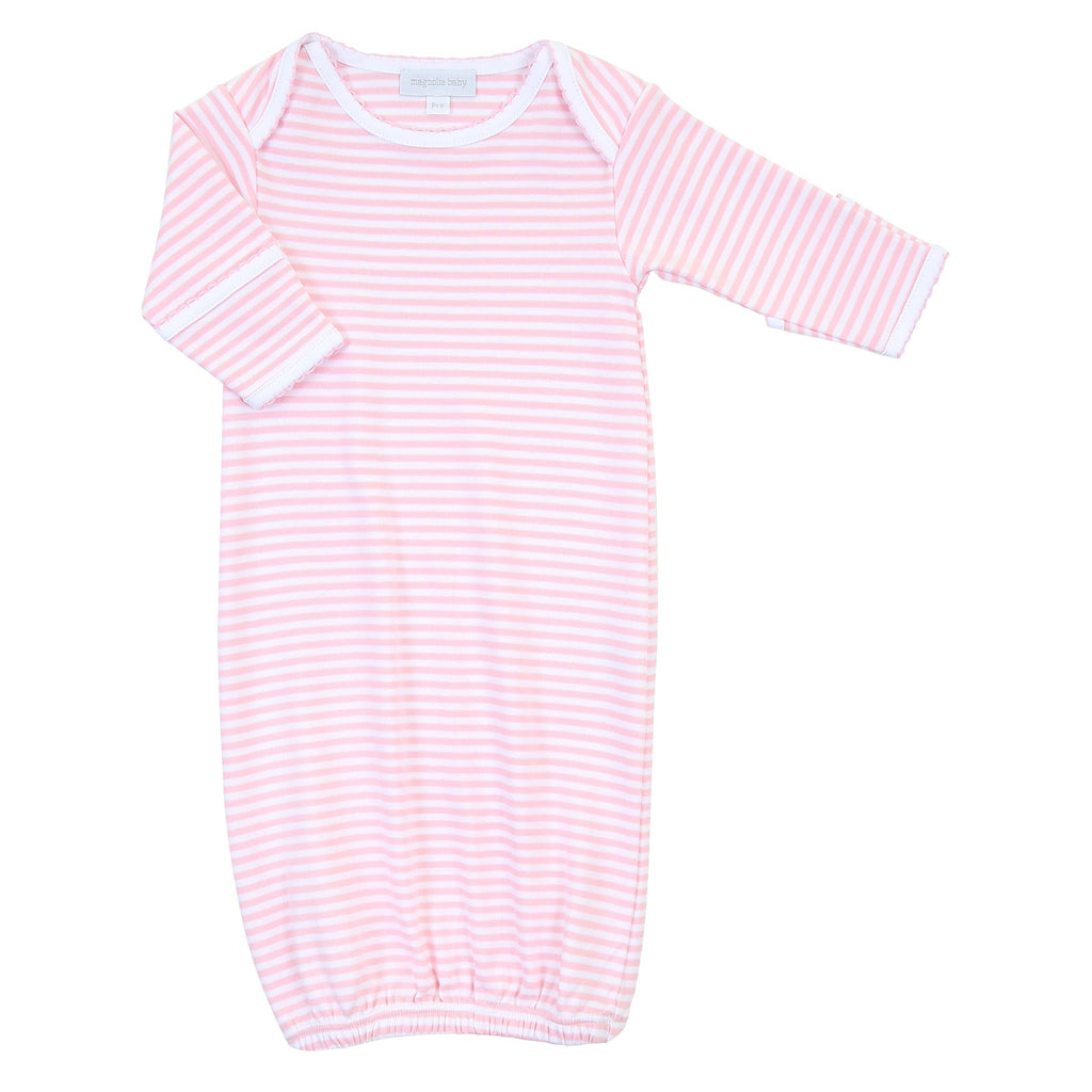 Striped Essentials Pink Lap Gown