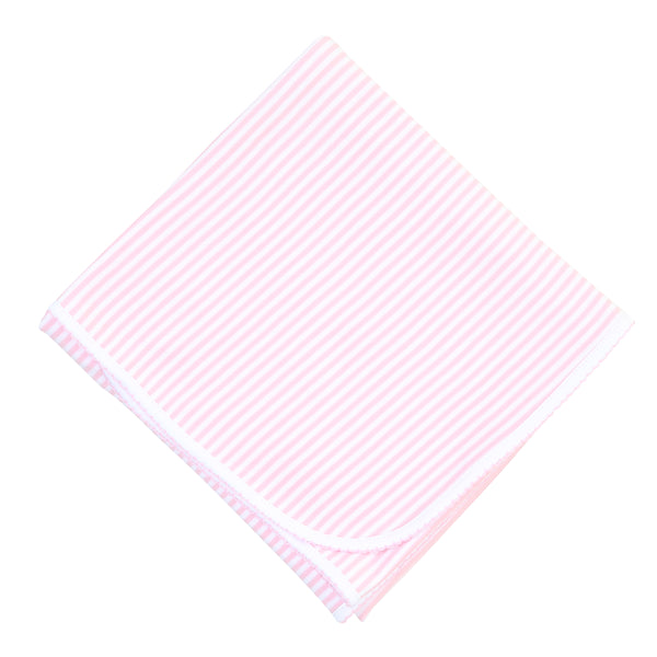 Essentials Pink Stripes Receiving Blanket
