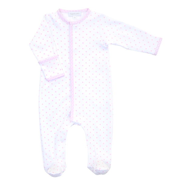 Essentials Pink Gingham Dots Footie