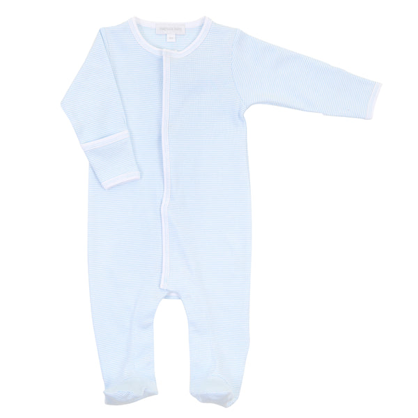 Essentials Blue Mini Stripe Footie