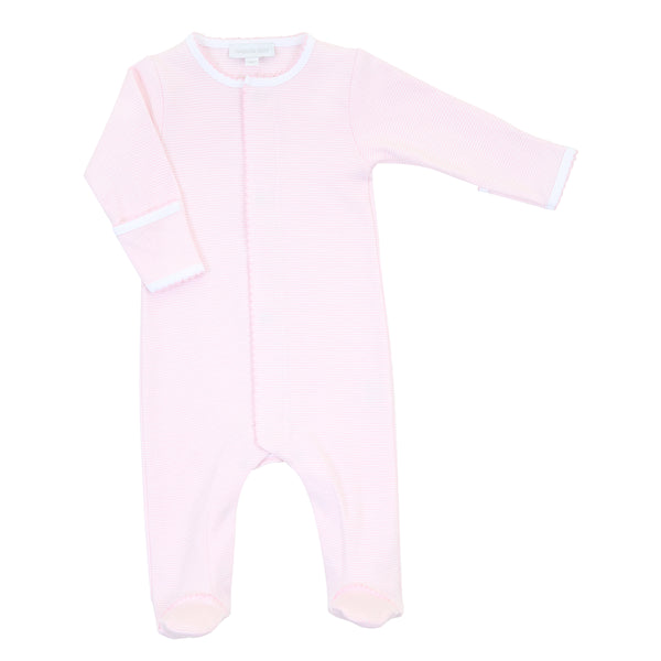Essentials Pink Mini Stripe Footie