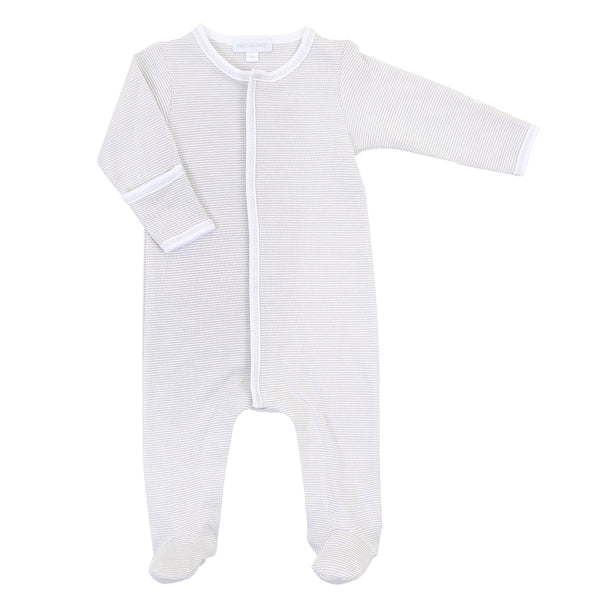 Essentials Silver Mini Stripe Footie