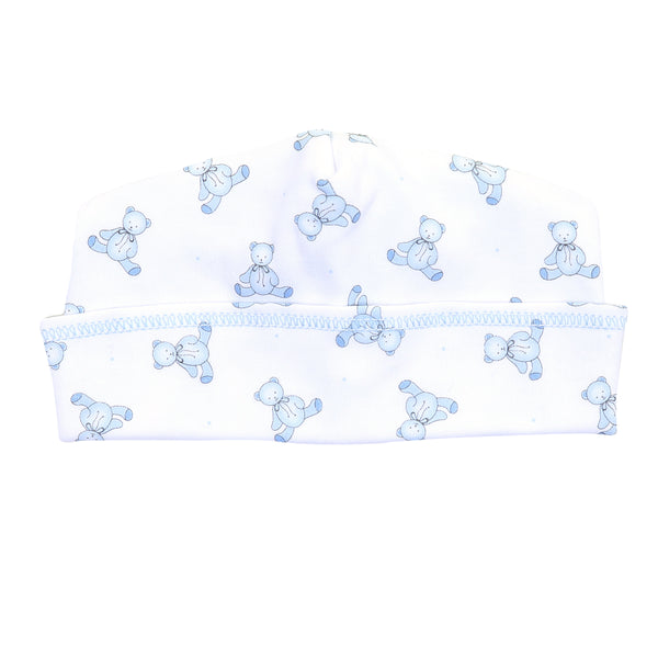 Essentials Blue Baby's Teddy Printed Hat
