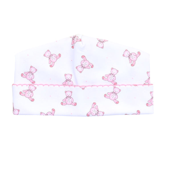 Essentials Baby's Teddy Pink Printed Hat