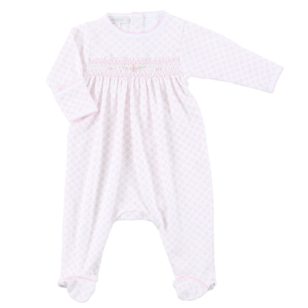Essentials Hope's Rose Smocked Footie
