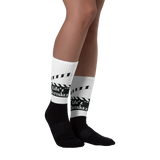 Black Sublimated Outtakez Logo Socks