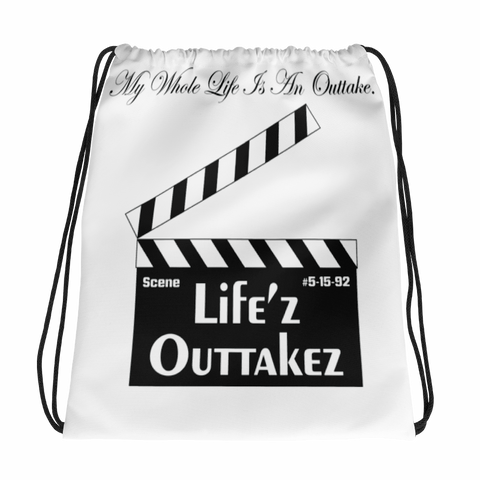 Outtakez Logo Drawstring Bag