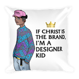 """Designer Kid"" Square Pillow"