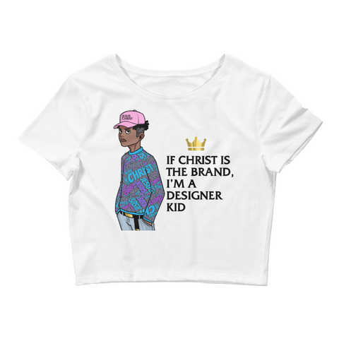 "Women's ""Designer Kid"" Crop Tee"