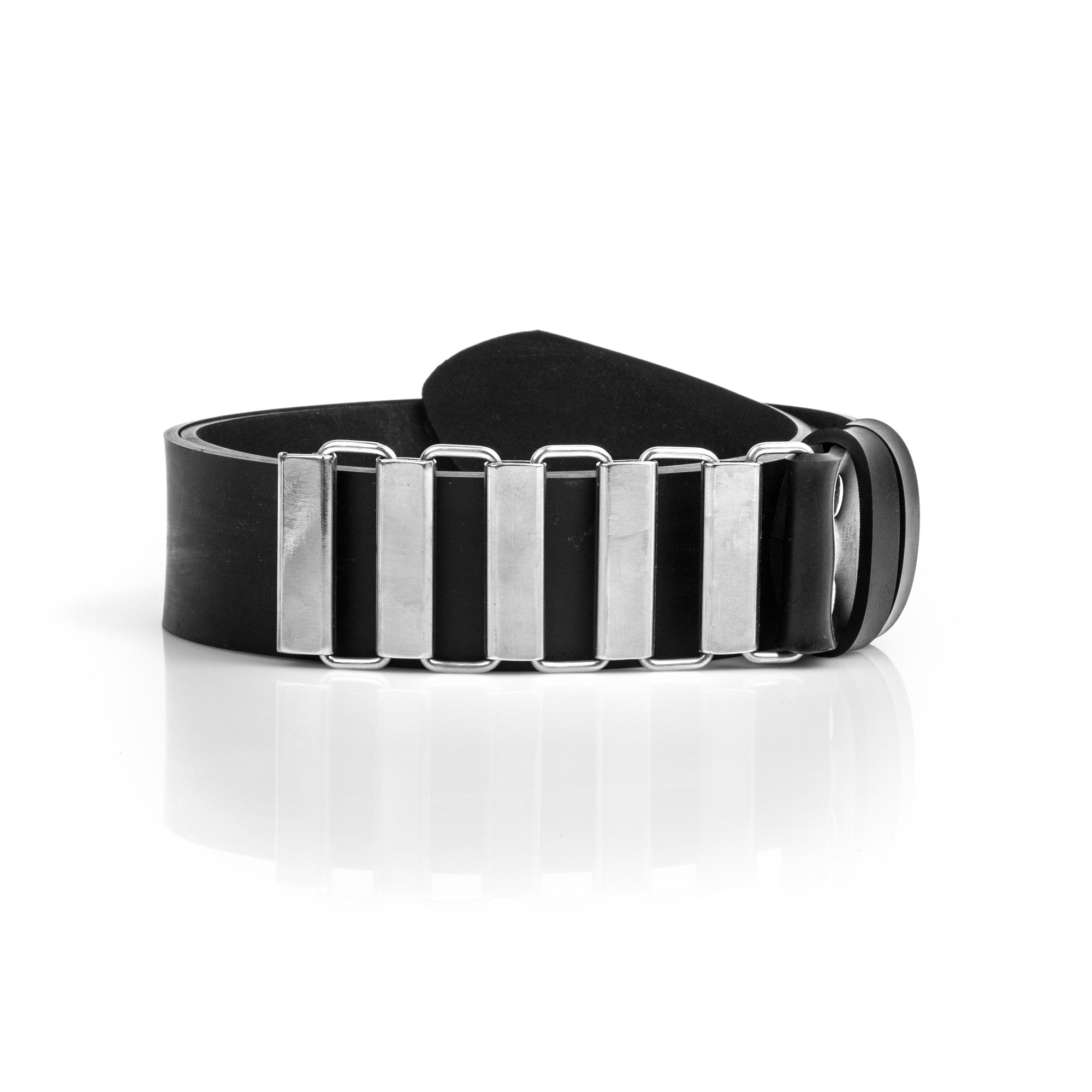 Black Vegan Belt With Stainless Steel Buckle