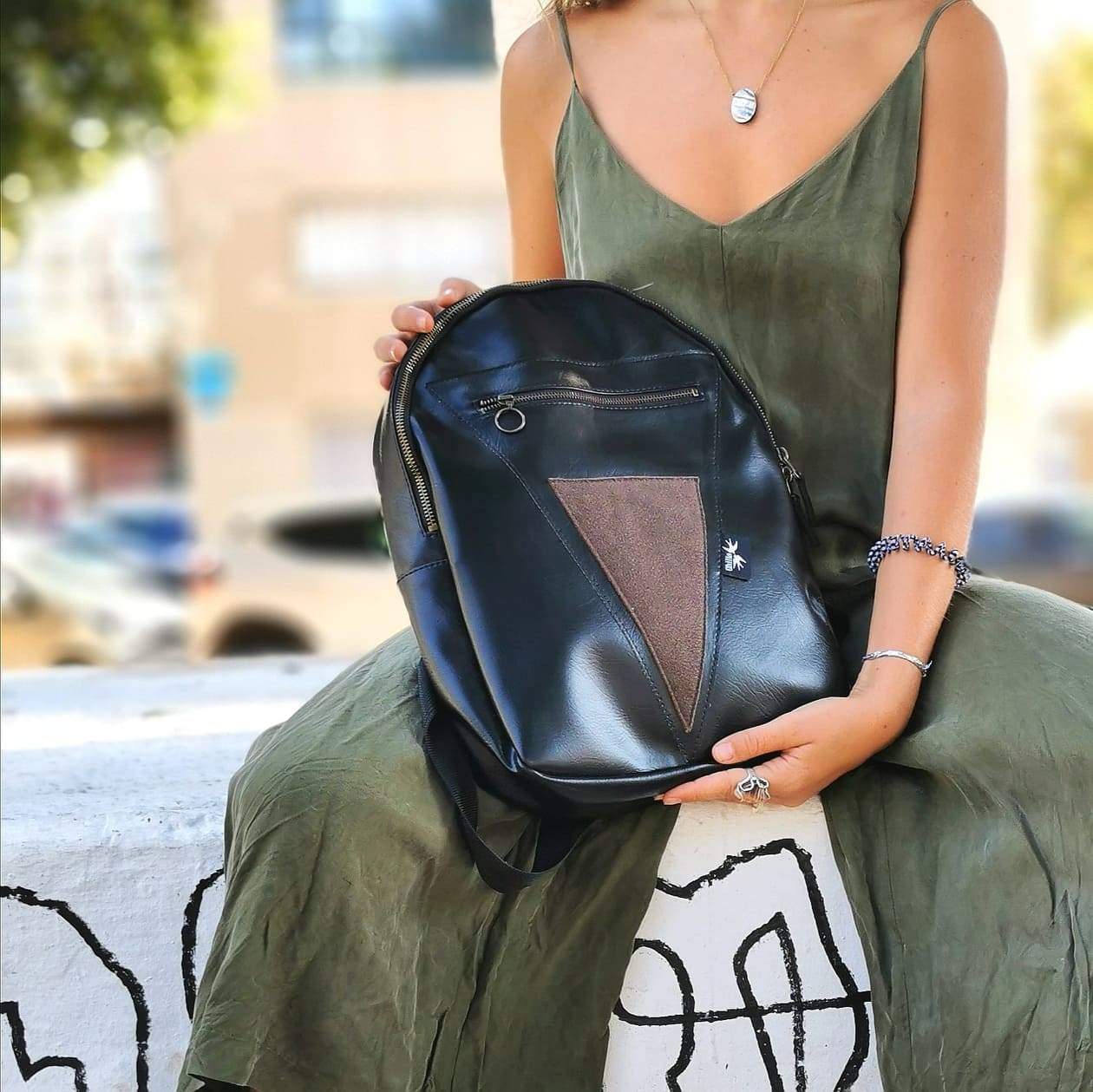 Black & Brown Backpack
