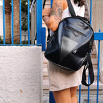 Black & Grey Metallic Backpack