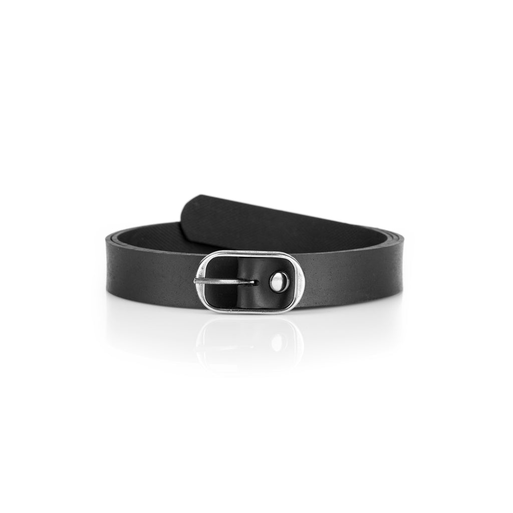 Black Elegant Vegan Belt For Women