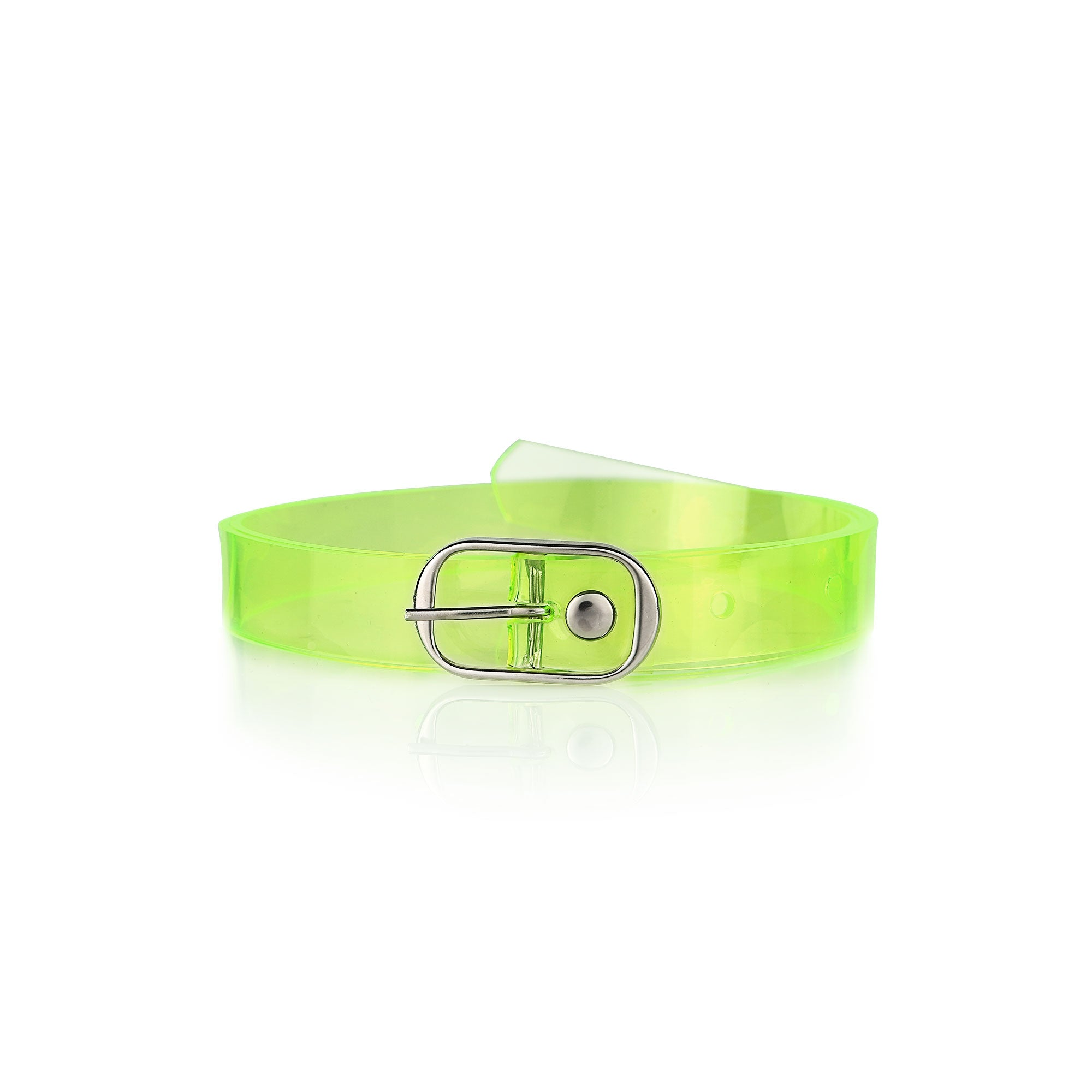 Neon Green Vegan Belt