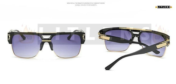 Dark Purple Pilot Sunglasses