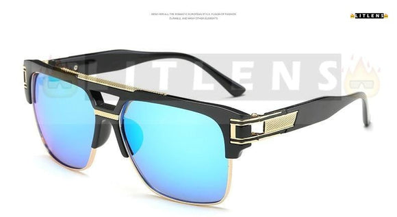 Ice Blue Pilot Sunglasses