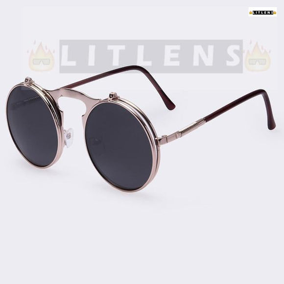 Black FlipUp Lens Sunglasses