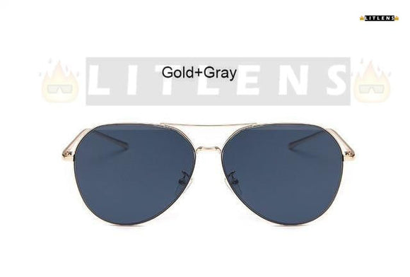 Gold + Grey  Aviator Sunglasses