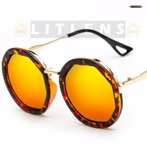 Sunset Orange Retro Steampunk Sunglasses