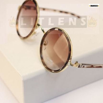 Rebel Bronze Round Sunglasses