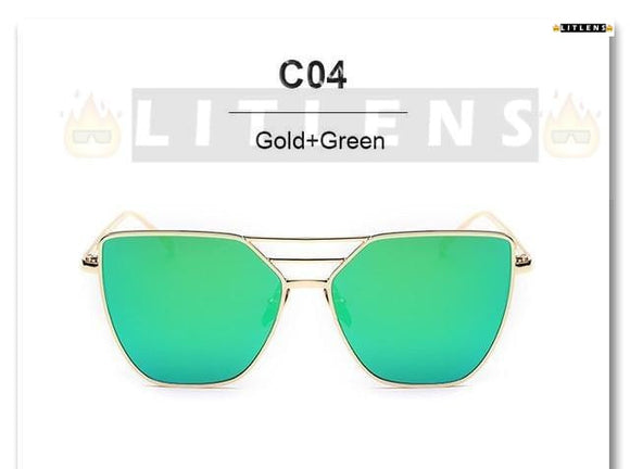 Gold + Green Victory Sunglasses