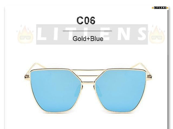 Gold + Blue Victory Sunglasses