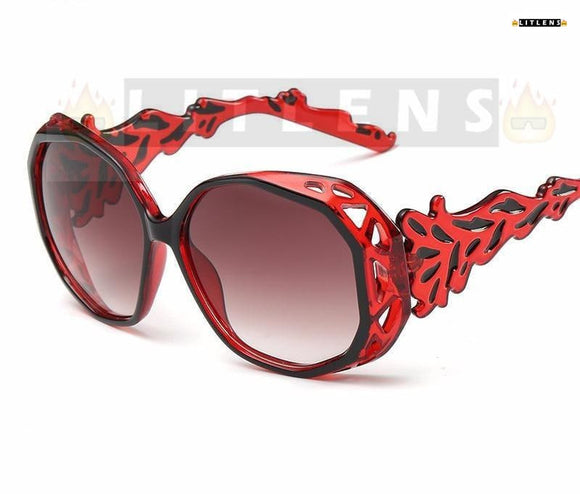 Ruby Red Chandelier Sunglasses