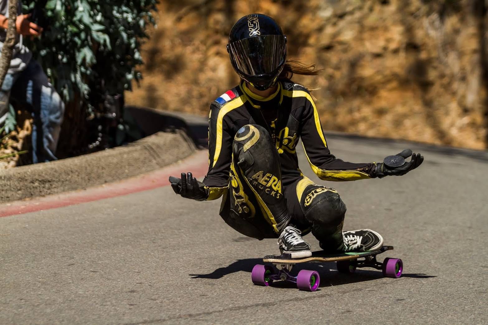 Downhill Skateboarding on Orangatang Kegels