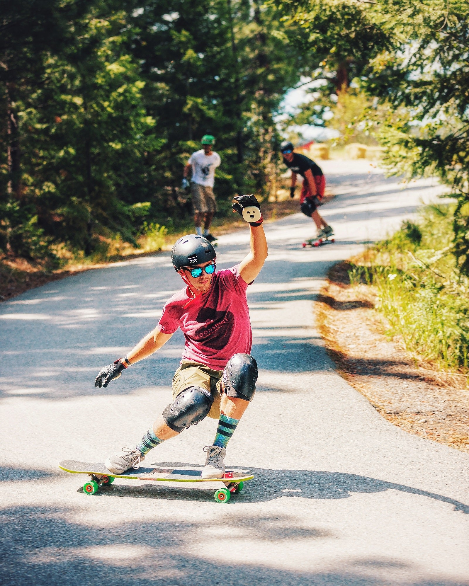 Brandon DesJarlais also Skates for Moonshine Longboards