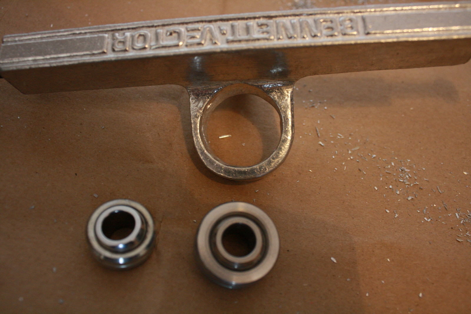 Carved Out Bennett Bushing Seat with Spherical Bearings