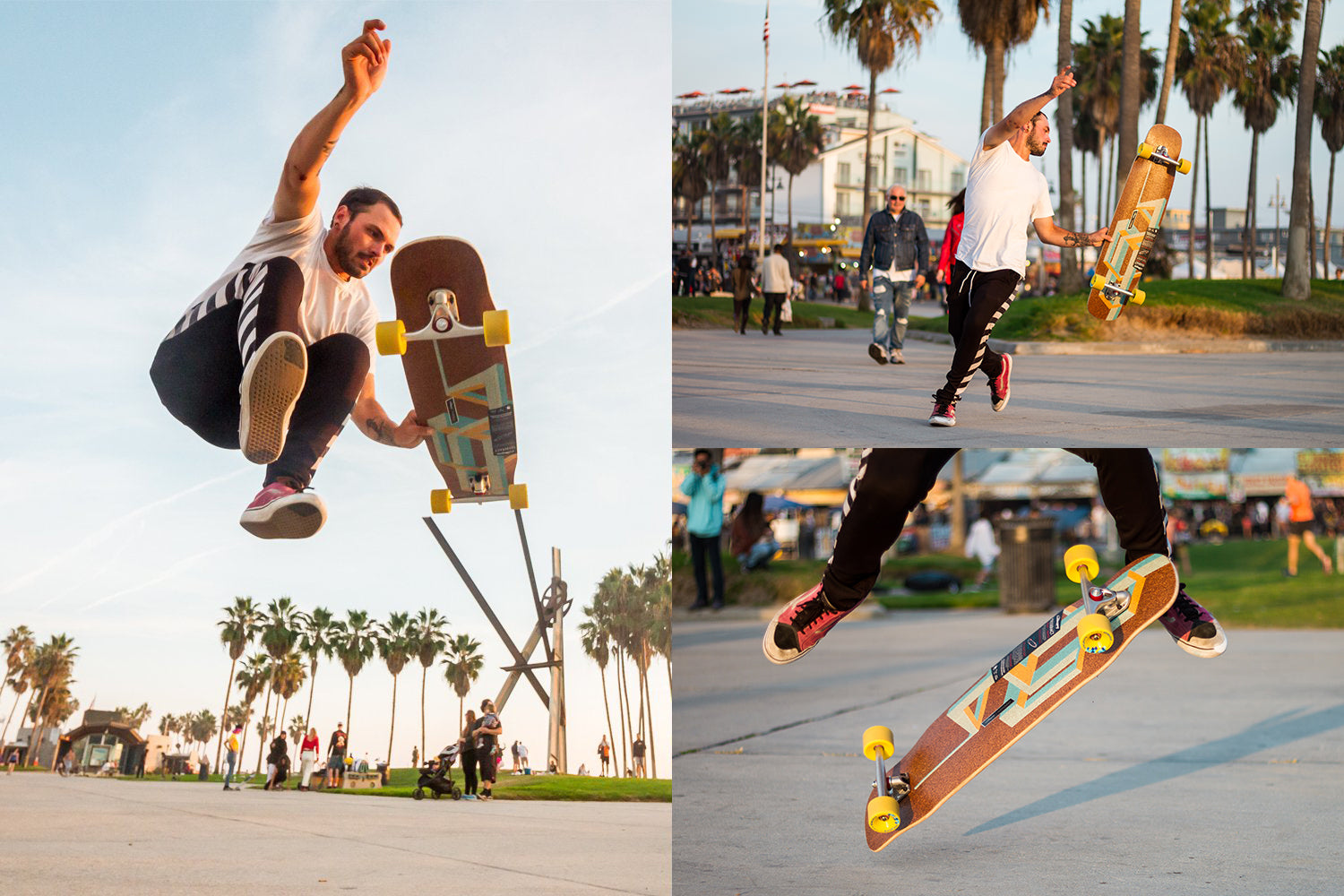 Corey Cade at Docksession Los Angeles riding the Basalt Tesseract by Loaded Boards