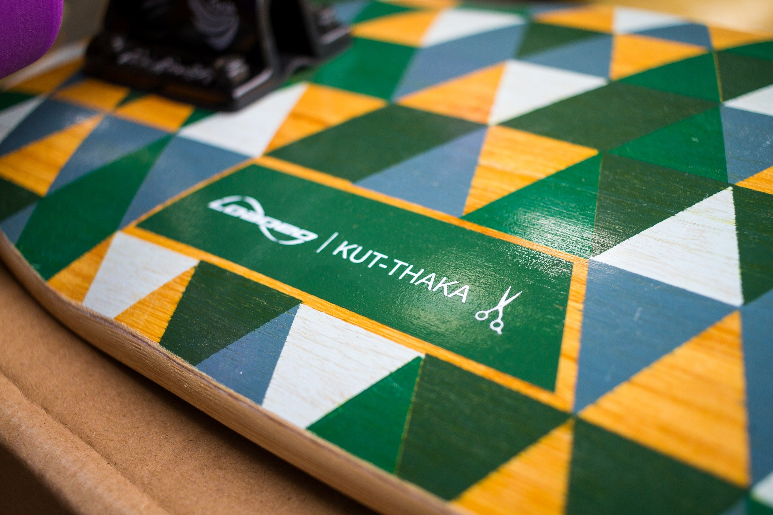 Loaded Kut-thaka Skateboard Name Close Up