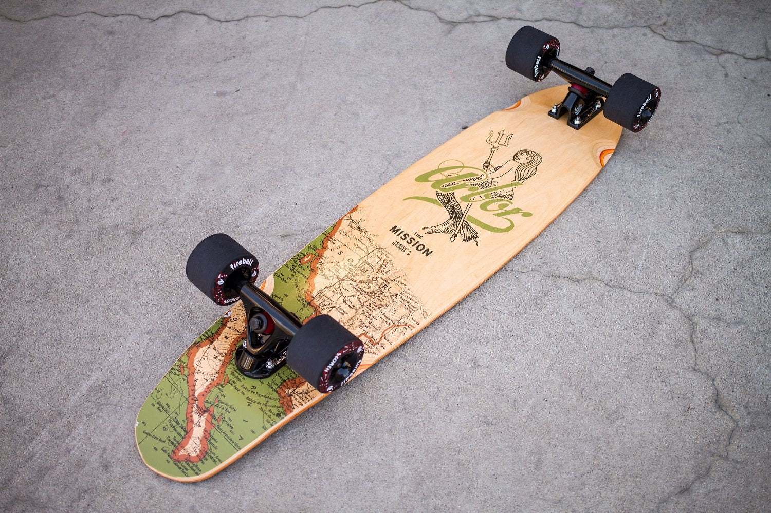 Arbor Mission Groundswell Longboard Skateboard Complete