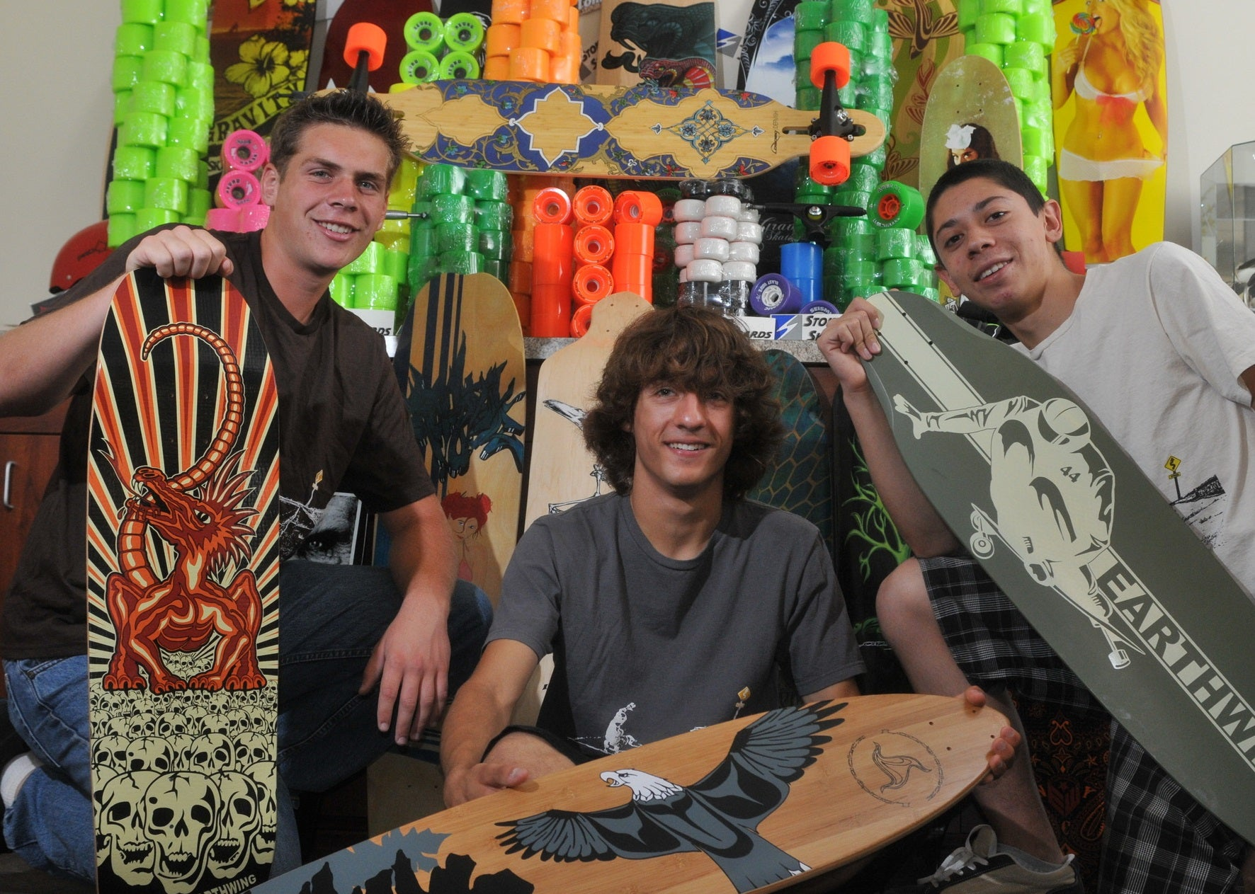 Stoked Skateboards Founding Trio
