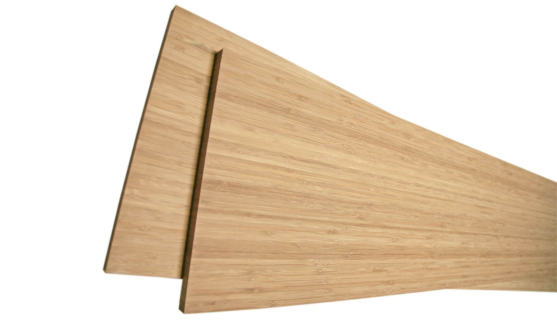 Bamboo sheets used as skateboard building material