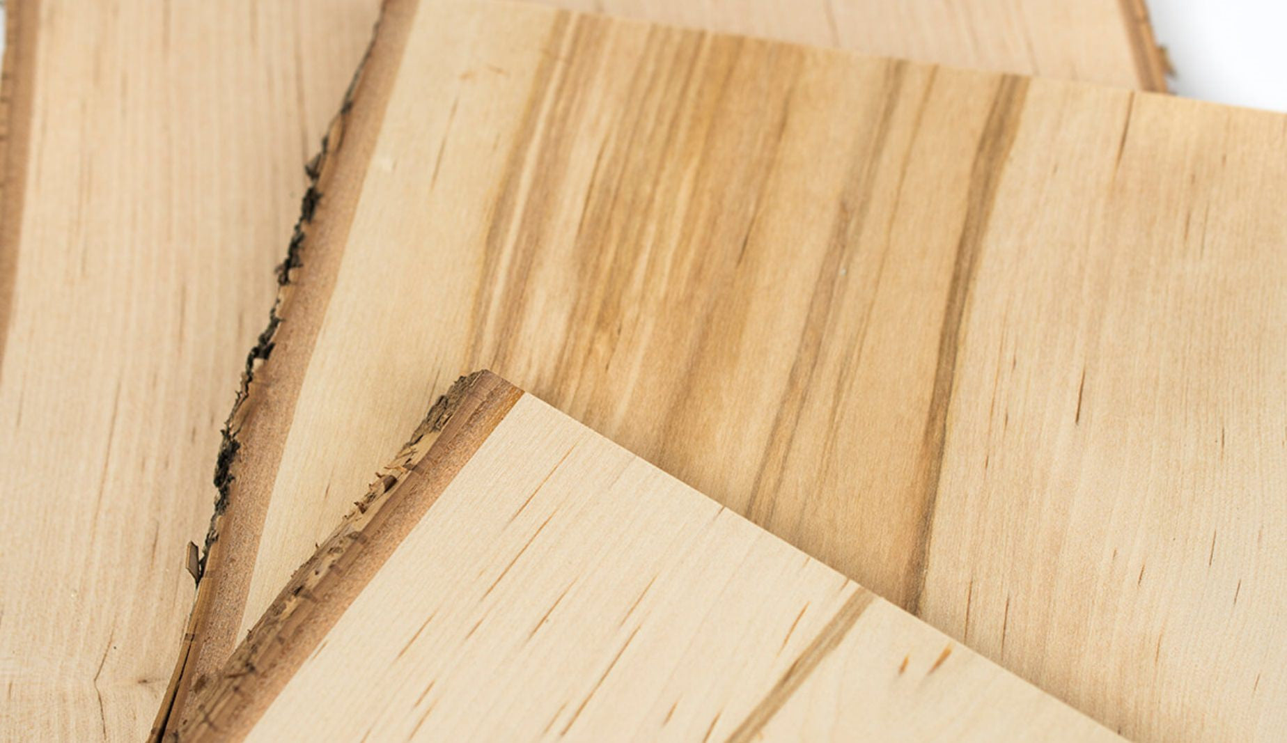 Birch wood used as building material