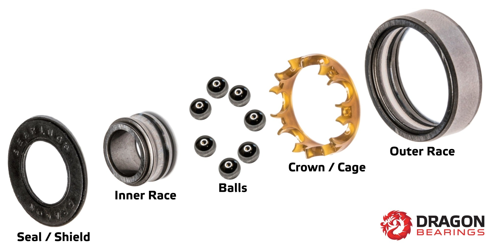 Fireball Dragon Skateboard Bearings Exploded View