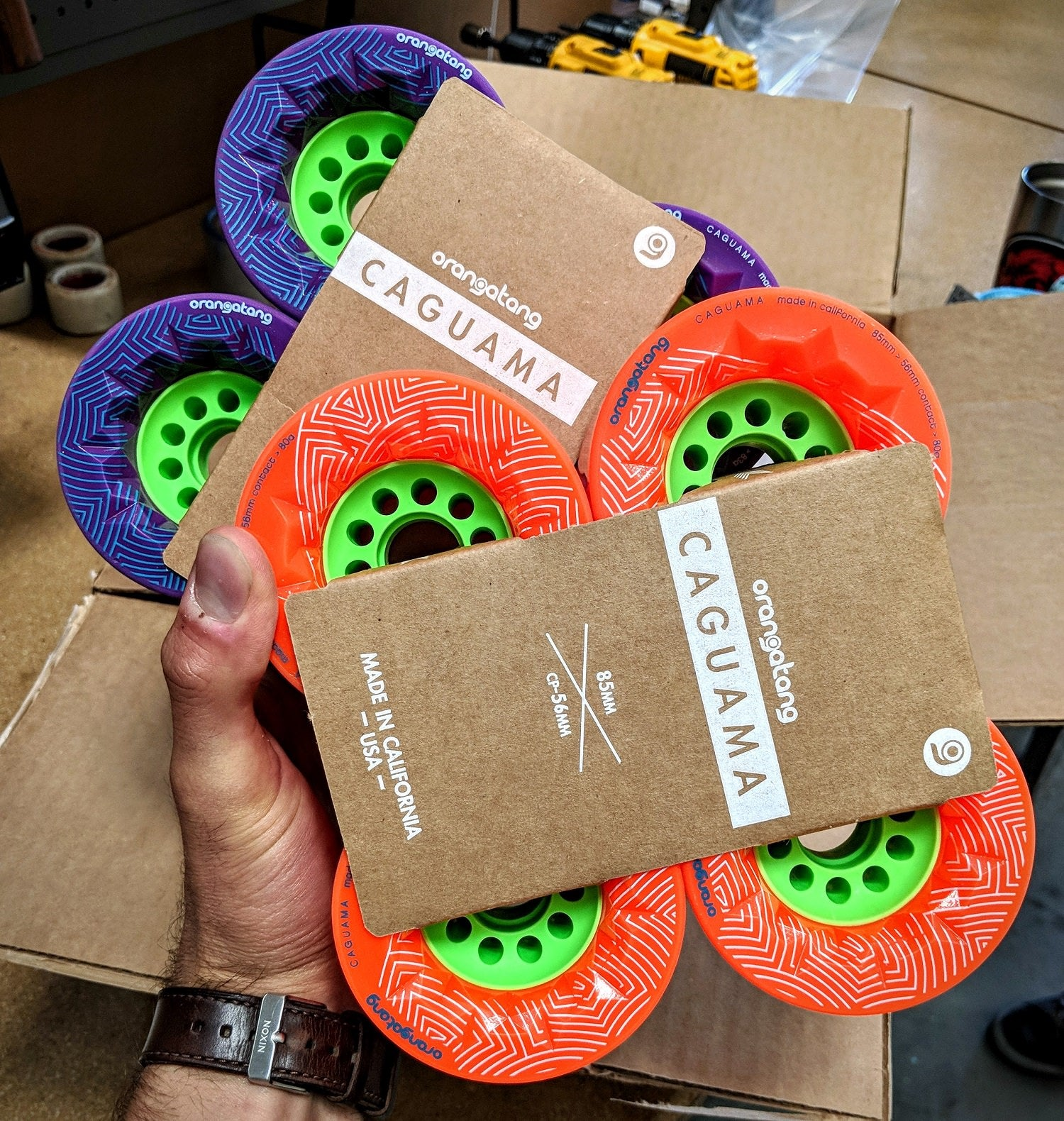 The new Orangatang Caguama has a massive core to support 85mm of thane.