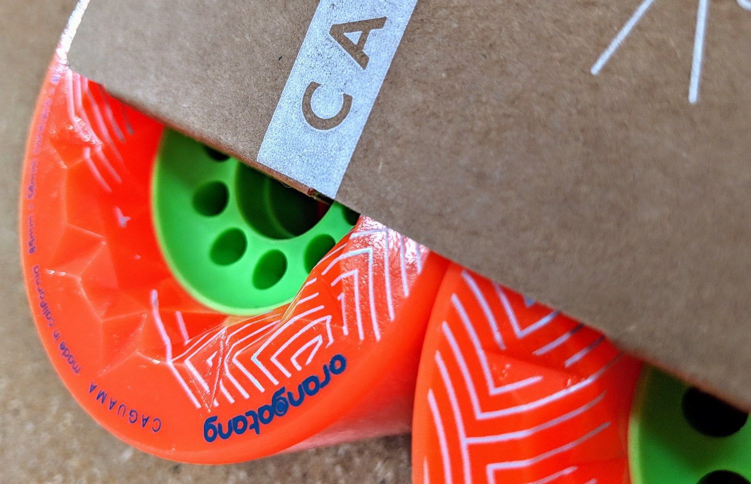 Orangatang Caguama Longboard Wheels Close Up