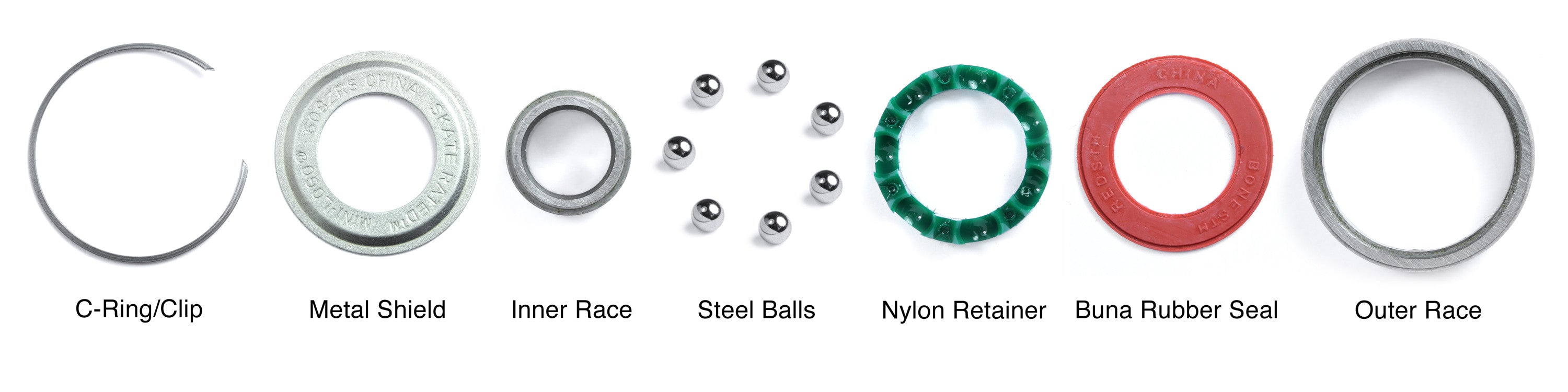 Line of Skateboard Bearing Parts