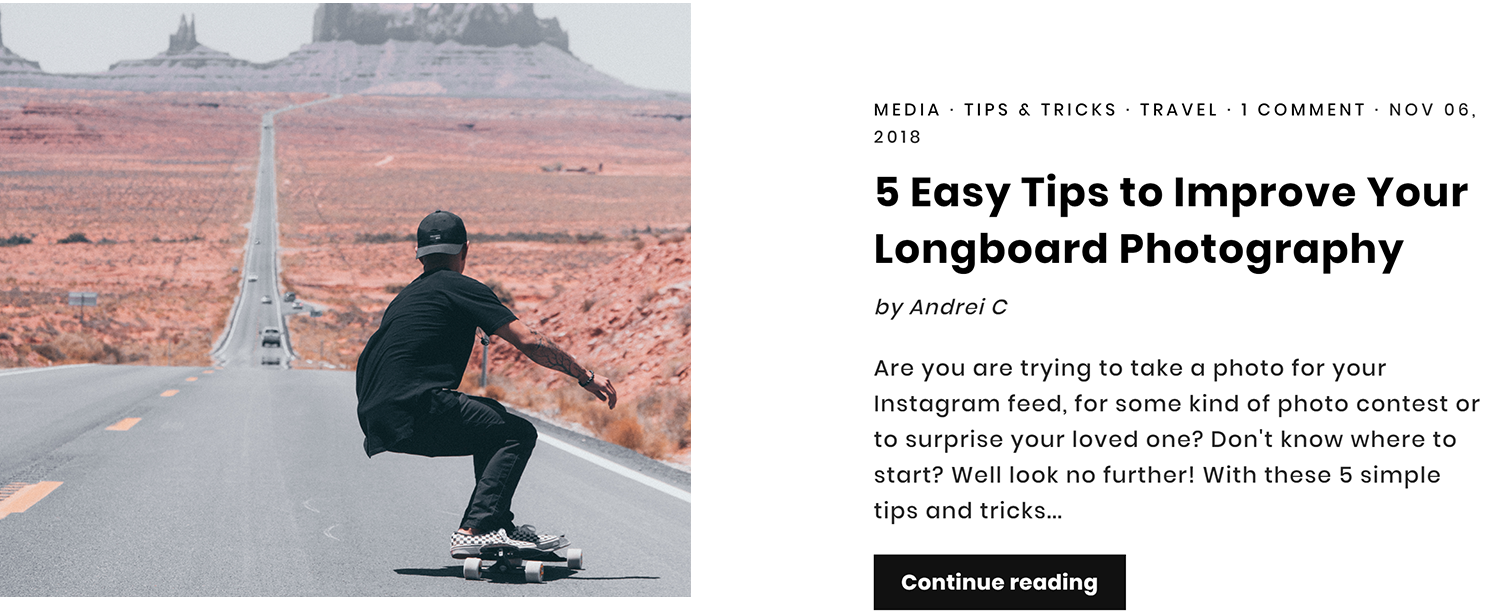 5 Easy Tips to Improve Your Longboard Photography Article