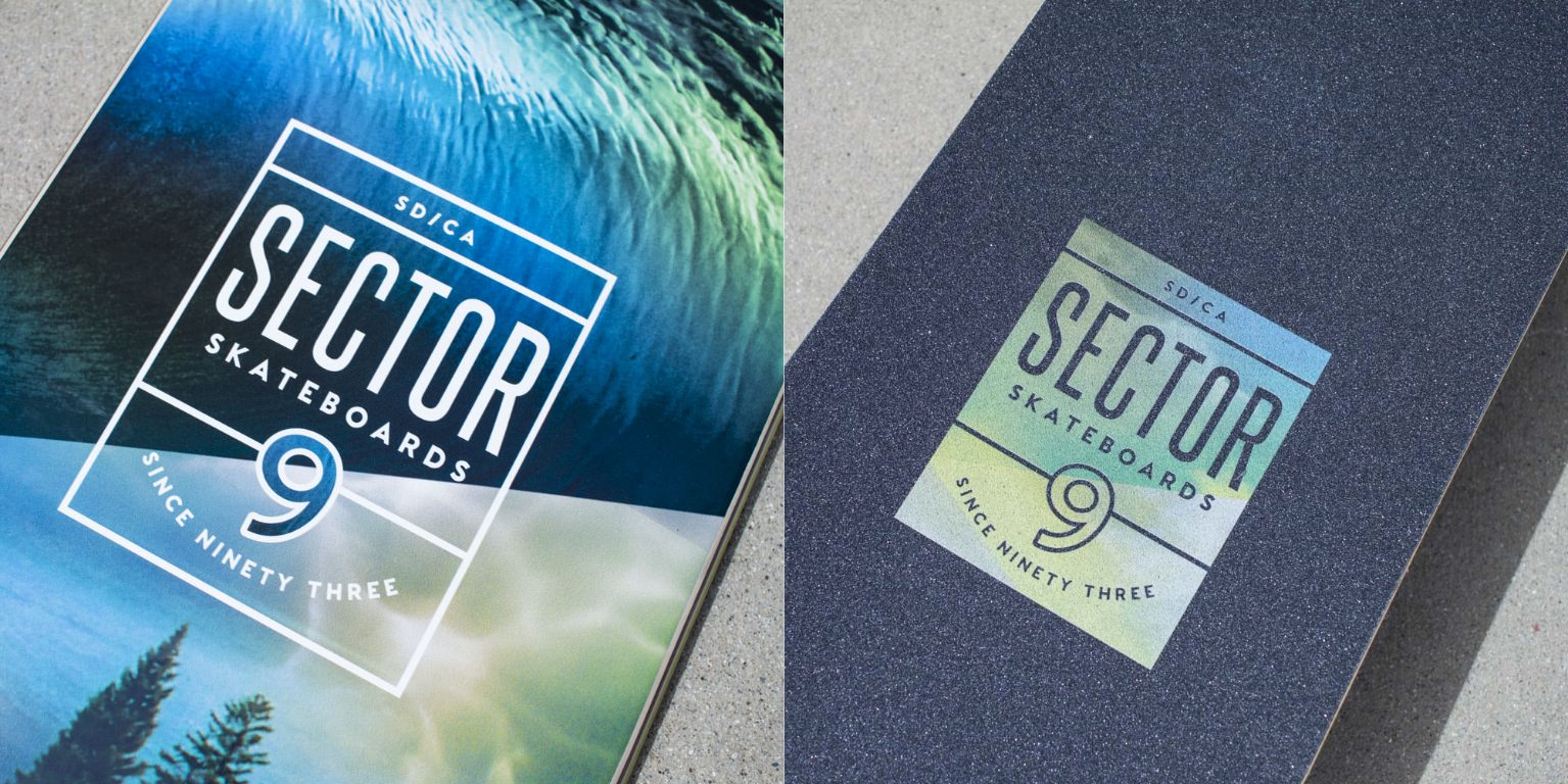 Sector 9 Mirage Meridian Skateboard Complete Close Up