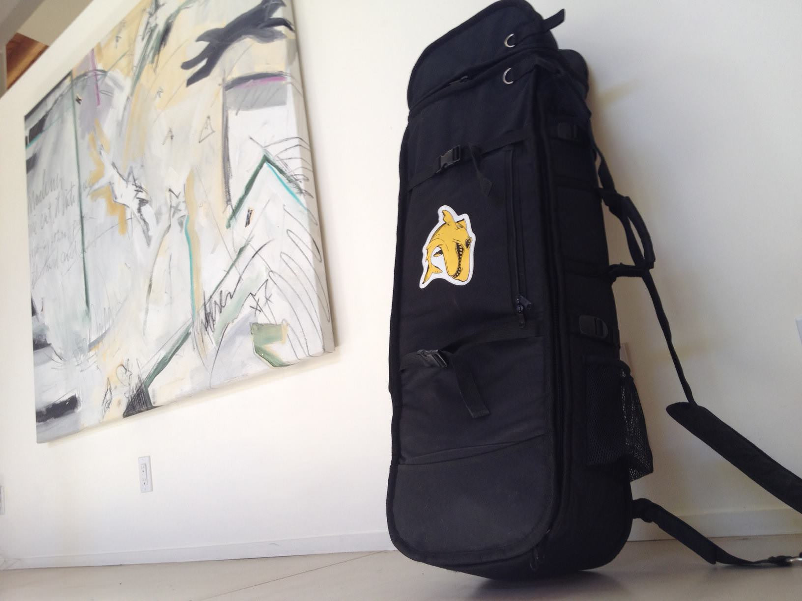 Travel friendly with a slightly larger skate bag