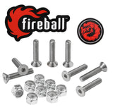 Fireball Dragon Stainless Steel Skateboard Hardware Set