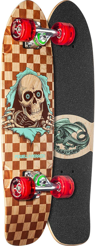 Powell-Peralta Sidewalk Surfer Complete Skateboard, Checker Ripper