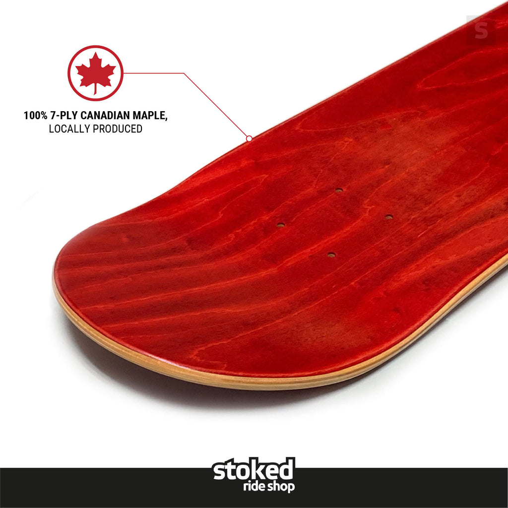 "Stoked Ride Shop Blank Deck, Red Stain, 7.75"" / 8.0"""