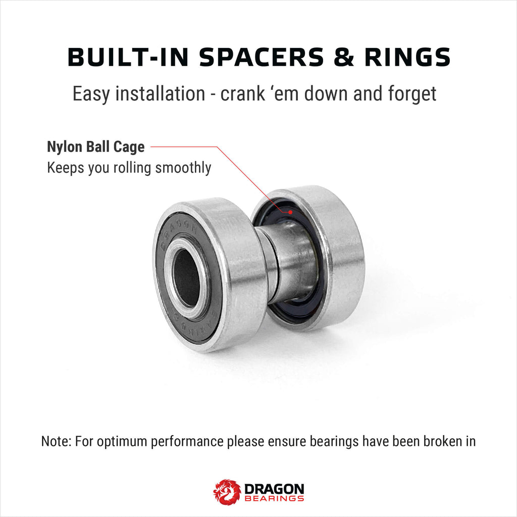 Dragon BUILT Bearings 8 Pack