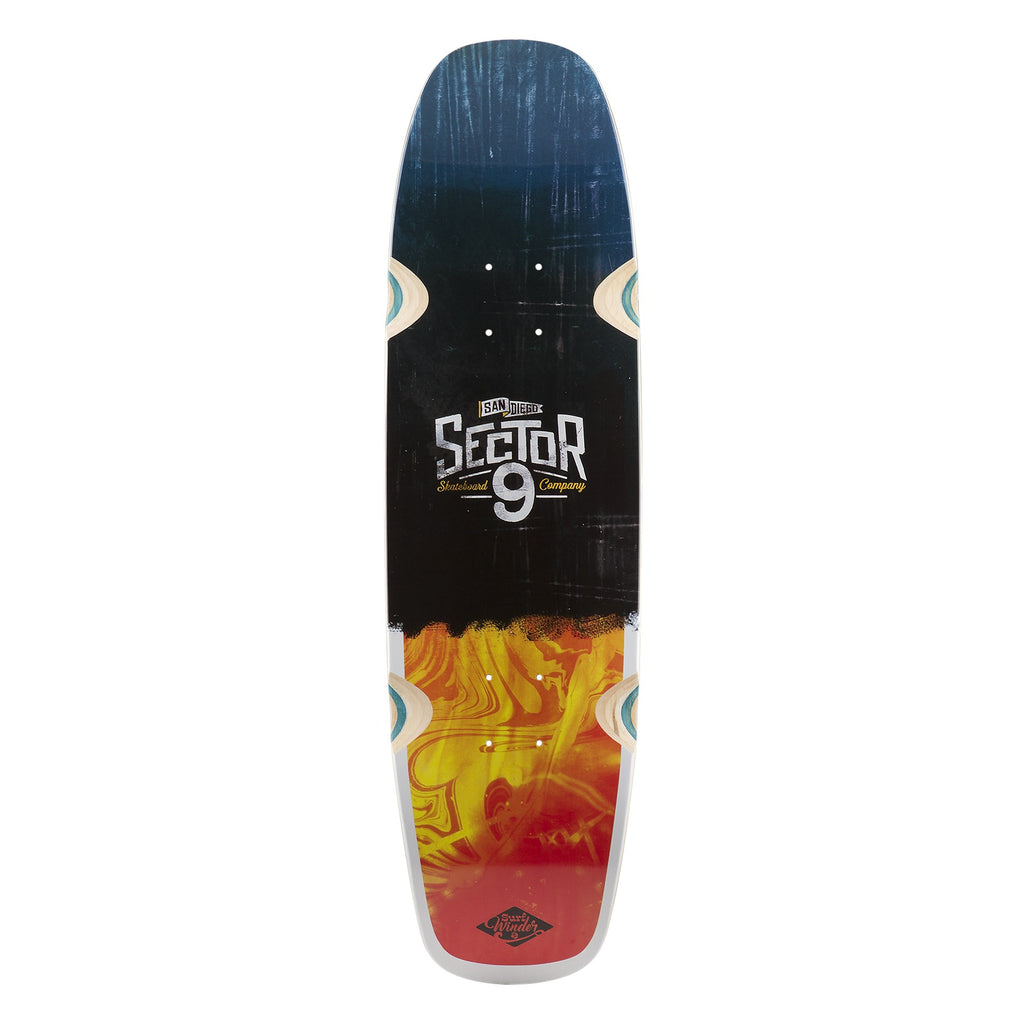 Sector 9 Barra Soap Skateboard, Red, Deck Only